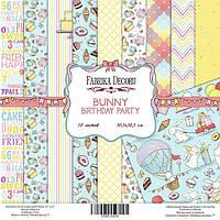 """Набор бумаги от Фабрики Декора - """"Bunny birsday party"""", 30x30 см, 10 листов"""