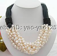 Роскошное ожерелье из жемчуга и ониксов