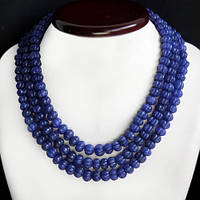 Ожерелье из натуральных сапфиров 600карат