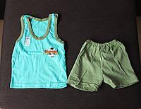 Летний комплект на мальчика (шорты и борцовка) 80/86 см