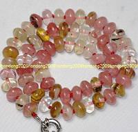 Ожерелье из натуральных турмалинов 6х10мм