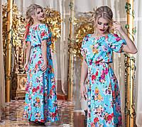 Длинное летнее платье батальное 298  гл