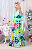 Летнее платье в пол 6054 ш