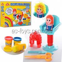Пластилин парикмахерская, 3 цвета (баноч.с крыш), формочка, кресло, в коробке