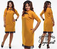 Платье женское нарядное с кружевом в расцветках