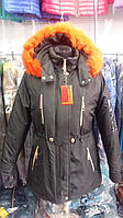 Куртка женская зимняя модель Парка Мех