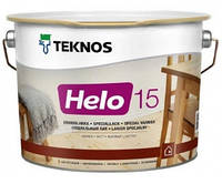 Лак для дерева яхтный универсальный уретан-алкидный полуматовыйTEKNOS HELO 15 0,9