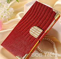 Роскошный чехол-книжка для Sony Xperia Z2 L50 D6503 D6502 красный