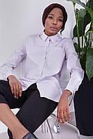 Женская элегантная рубашка серого цвета | Хлопок 100%