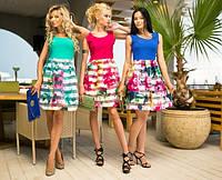 Платье женское летнее короткое 6066 ш $