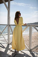 Стильное длинное платье 01272 аф