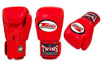 Перчатки боксерские Кожа TWINS BGVL-3-RD (р-р 8-10oz, красный)