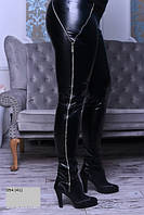 Лосины женские кожаные больших размеров 054 (41)