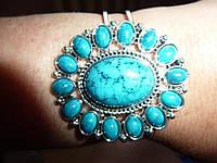 Нарядный бирюзовый браслет