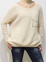 Теплый женский свитер ангора