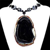 Ожерелье с агатовой друзой