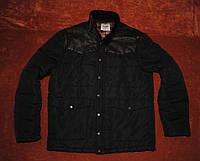 Крутая зимняя куртка с кож плечами zara burton