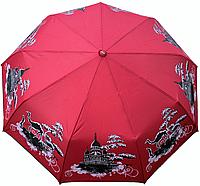 """Женский зонт складной полуавтомат """"Города"""". Зонтик от дождя gorod2!"""
