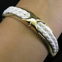 Стильный браслет с натуральной кожей