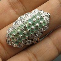 Кольцо с нежными апатитами и сапфирами