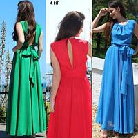 Женское летнее платье длинное 4 НГ
