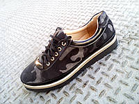 Туфли спортивные кожа+нубук женские 36-41 р-р