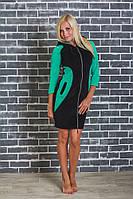 Домашний женский велюровый халат зеленый, фото 1