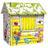 Игровой картонный домик Ферма Деревянные развивающие игрушки