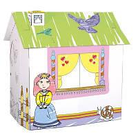 Игровой картонный домик для принцессы Деревянные развивающие игрушки