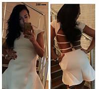 Платье мини с открытой спиной 288 ник