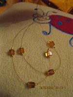 Бусы колье цепочка под янтарь золотистая.ожерелье