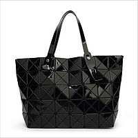 Сумка-шоппер женская  Velina Fabbiano 57813 из лаковых кусочков черная