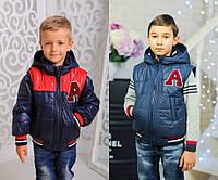 """Куртка-жилетка для мальчика """"Алекс"""" (р.28-38) деми"""