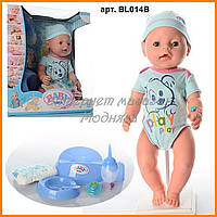 Пупс кукла Baby Born Беби Борн BL014B-S Малятко немовлятко новорожденный с аксессуарами