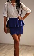 Стильная  короткая юбка с баской