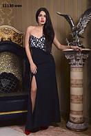 Вечернее нарядное платье 11130 мак