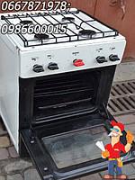 Газовая кухонная плита Електа на 4 конфорки бу в рабочем состоянии