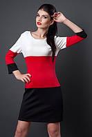 Женское цветное полосатое платье - новинка осени, р-ры 46,48