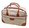 Модная дорожная сумка для леди 38L, искусственная кожа dr.Bond 6601-2 beige-1 бежевый/принт
