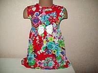 Платье Цветы (штапель) 30 размера