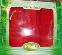Бамбуковый халат+тапочки+полотенца (набор)