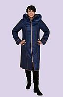 Зимнее пальто для женщин с натуральным мехом большого размера 52-60