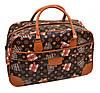 Классная сумка для путешествий 38L, искусственная кожа dr.Bond 6601-2 brown-2 коричневый/принт