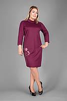 Платье женское большого размера теплоее 50-52