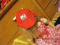 ОТЛИЧНАЯ детская кепка красная подтягивается
