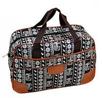 Мужская сумка для поездок 24L, полиэстер dr.Bond 6601-1 black-2 черный/принт