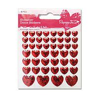 Декоративные клеевые элементы Сердца, 46 шт