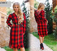 Платье - рубашка р 2365 гл