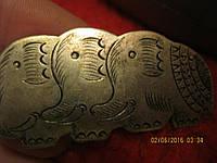 Брошь брошка 3 слона металл из ИНДИИ 5х2.2 старая?