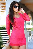 Платье гипюровое  3018 ш $